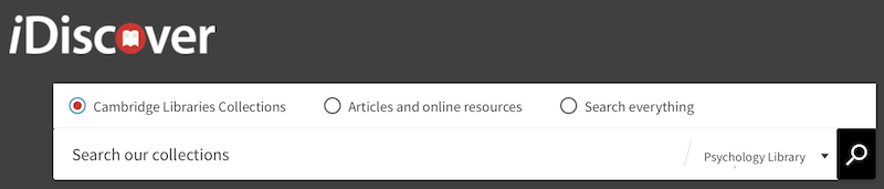 IDiscover search box- library catalog