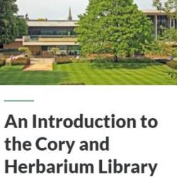 Cory and Herbarium Library Induction