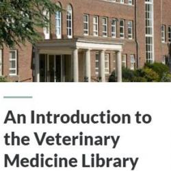 Veterinary Medicine Library Induction