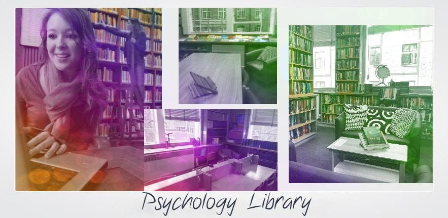 Psychology library photo grid