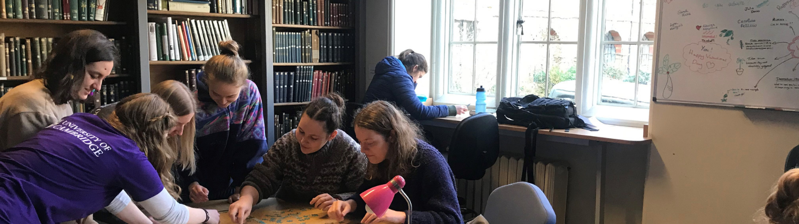 Students studying together in the Plant Sciences Library space